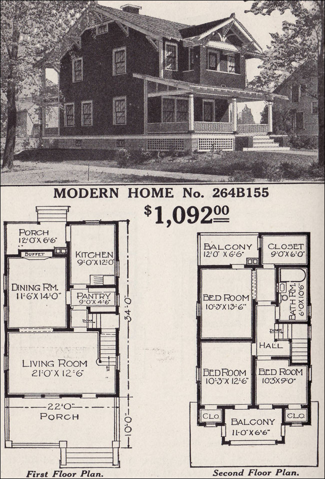 Plans for a two-story home from a 1916 Sears catalog